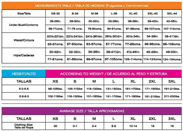 Ann Michell Size Chart
